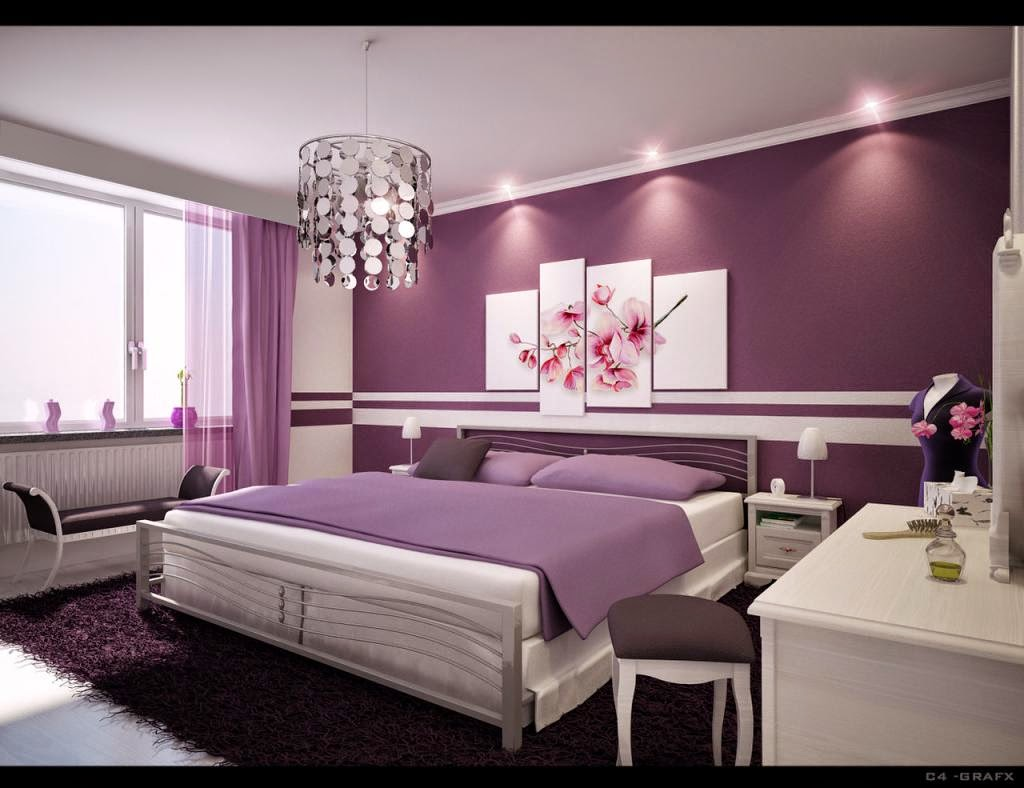 Bon Adorable White Purple Walls Ikea Bedroom Decorating Ideas With Cozy White  Mattress Plus Soft Purple Blanket And Beautiful Flower Picture Ornament On  The ...